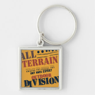 ALL TERRAIN OUTDOOR Silver-Colored SQUARE KEY RING