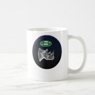 All Terrain Rhino Mug. Personalized Coffee Mug