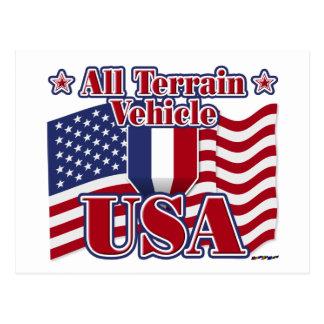 All Terrain Vehicle USA Postcard