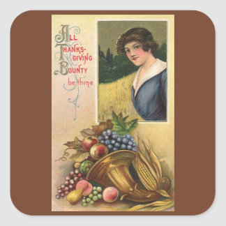 All Thanksgiving Bounty Be Thine Square Sticker