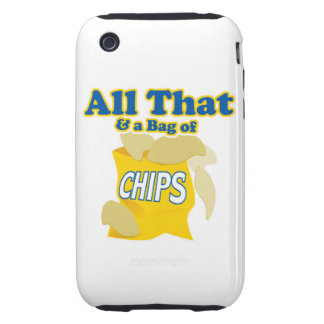 all that and bag of chips funny food humor tough iPhone 3 covers