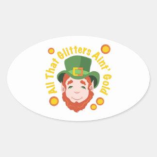 All That Glitters Oval Sticker