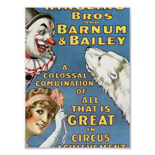 All That Is Great in Circus Achievement Vintage Th Posters