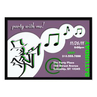 All That Jazz ~ Party With Me! Party Invitations