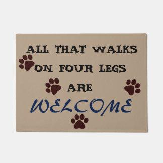 All that walks on four legs doormat