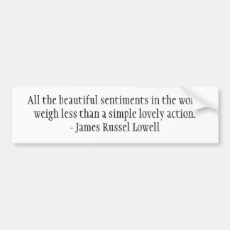 All the beautiful sentiments in the world bumper sticker
