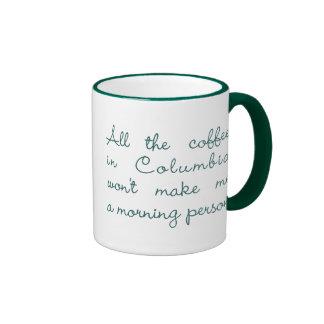 All the Coffee in Columbia (Green) Ringer Mug