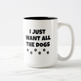 All The Dogs Two-Tone Coffee Mug