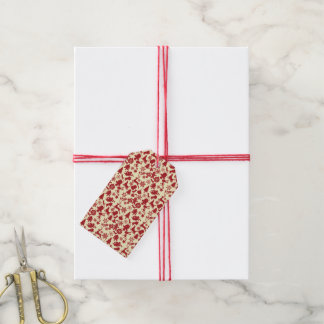 All The Goodies of Christmas Red Pattern Gift Tags