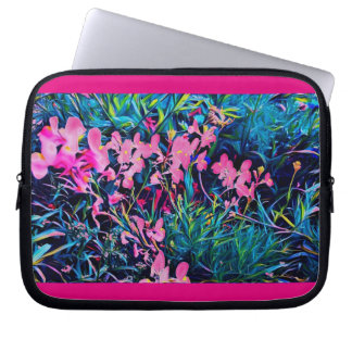 All the Pink Flowers 10in Neoprene Laptop Sleeve