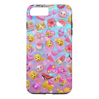 All the Pink Girl Emojis Collage Pattern iPhone 8 Plus/7 Plus Case