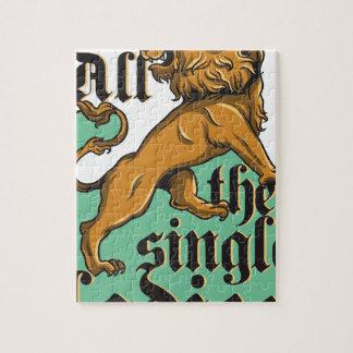 all the single ladies, vintage lion puzzles
