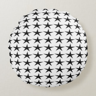 All the Stars Round Throw Pillow