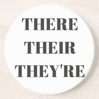 All The There Grammar Humor Text Illustration Drink Coaster
