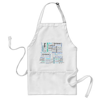 All the things a dad is to me typography adult apron
