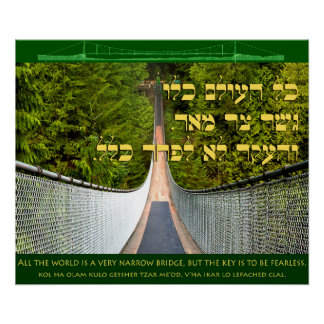 All the World is A Narrow Bridge Poster
