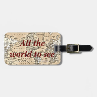 All the world - luggage tag