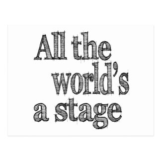 All the World's a Stage Quote Postcard