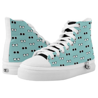 All Them Glasses - Teal Printed Shoes