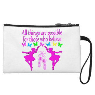 ALL THINGS ARE POSSIBLE DANCER DREAM WRISTLET PURSE
