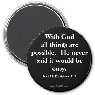 All things are possible gotGod316.com Scripture Magnet