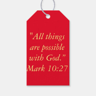"""All Things are Possible"" Scripture Gift Tags"