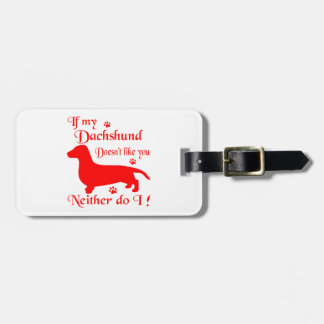 ALL THINGS DACHSHUND LUGGAGE TAG