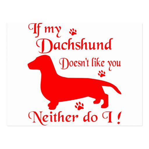 ALL THINGS DACHSHUND POST CARDS