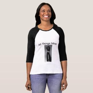All Things Idina 3/4 sleeve shirt with idina image
