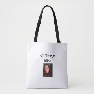 All Things Idina picture tote front and back