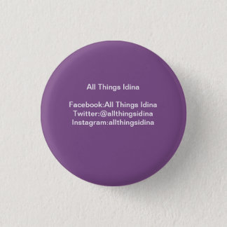 All Things Idina small purple button