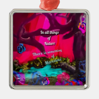 All things of Nature inspire us to dream Metal Ornament
