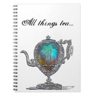 All things tea Monogram Notebook