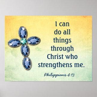 All Things Through Christ - art print