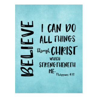 All things through Christ Bible Verse Postcard