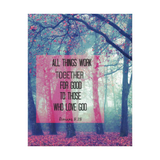 All things work together for Good Bible Verse Canvas Print