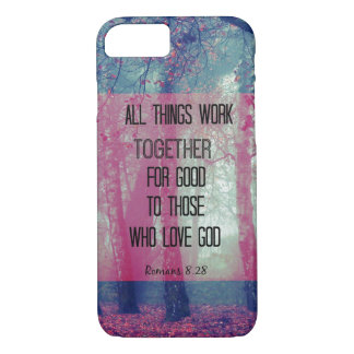All things work together for Good Bible Verse iPhone 7 Case