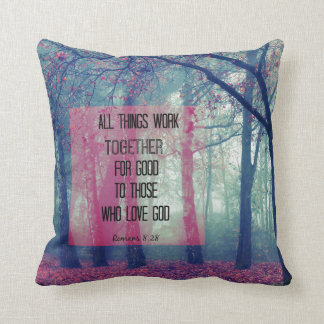 All things work together for Good Bible Verse Throw Pillow