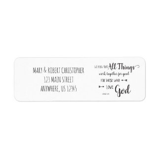 All Things Work Together - Romans 8:28 Return Address Label