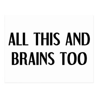 All This and Brains Postcard