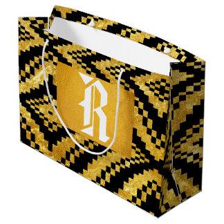 All Time Favorite Back Gold Monogram Gift Bag