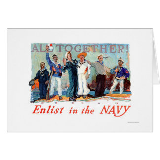 All Together!  Enlist in the Navy (US02280B) Greeting Card
