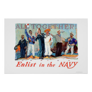 All Together!  Enlist in the Navy (US02280B) Poster