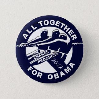 All Together for Obama 2012 6 Cm Round Badge