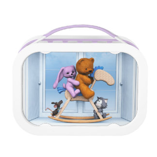 All together on the rocking horse lunch box