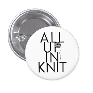All Up In Knit 3 Cm Round Badge