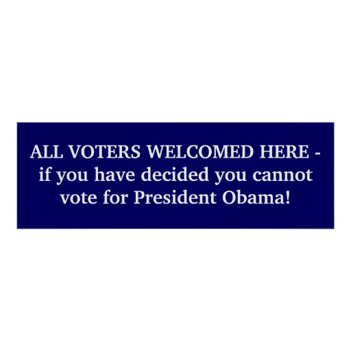 ALL VOTERS WELCOMED Poster