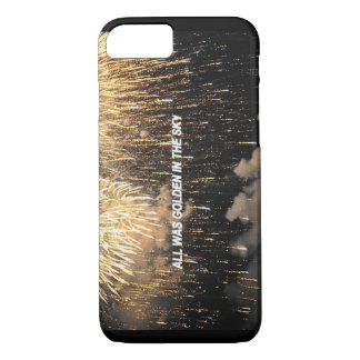 """All was golden in the sky"" iPhone 7 Case"