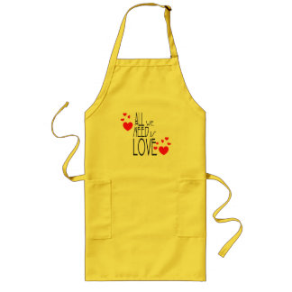all we need is love aprons