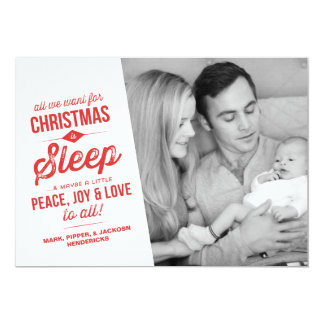 All We Want For Christmas Is Sleep | Photo Card